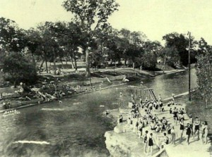 Barton Springs Pool in the 1930's