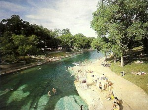 Barton Springs Pool in the 1990's