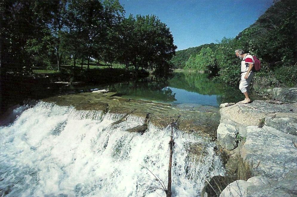 Barton Creek waterfall