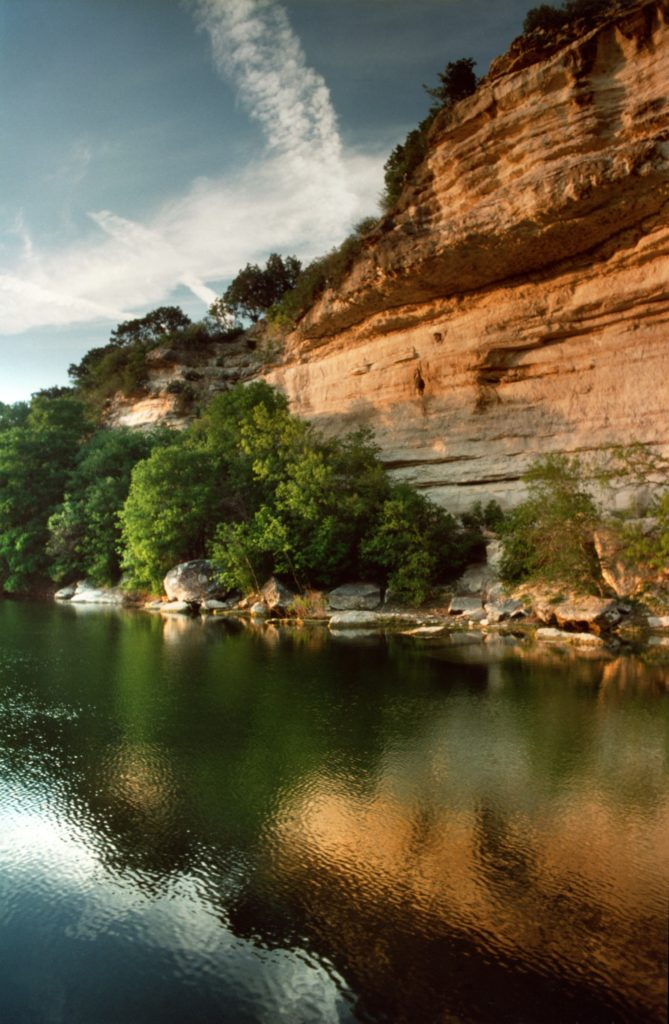 Barton Creek - Bluffs in the Golden light